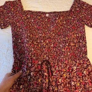 Floral print romper outfit     size L